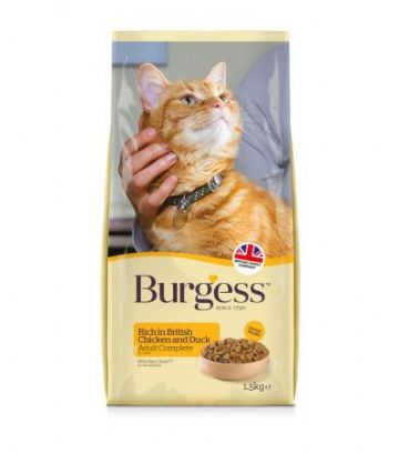 Burgess Cat Food Rich in Chicken with Duck 1.5kg